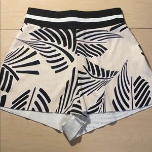 Zara collection leaf graphic high waisted shorts